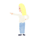 cartoon woman pointing Stock Image