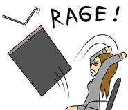 Cartoon woman rage Stock Photography