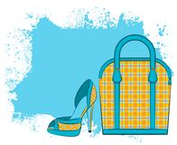 Cartoon woman's bag. Royalty Free Stock Photography