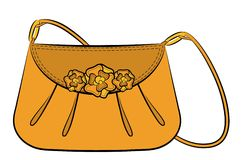 Cartoon woman's bag Royalty Free Stock Image