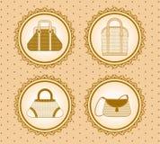 Cartoon woman's bag. Royalty Free Stock Photos