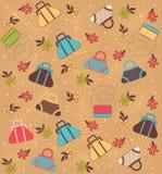 Cartoon woman's bags Stock Photos
