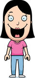 Cartoon Woman Smiling Stock Image