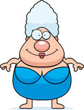 Cartoon Woman Swimsuit Royalty Free Stock Photo