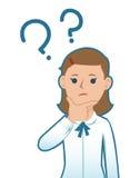 Cartoon woman thinking Stock Images