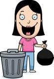 Cartoon Woman Trash Stock Photos