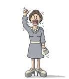 Cartoon woman very angry Stock Photo