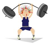 Free Cartoon Woman Weightlifter Isolated Royalty Free Stock Photo - 103669925
