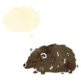 Cartoon wombat with thought bubble Royalty Free Stock Image