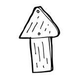 Cartoon wood arrow symbol Stock Photos