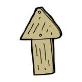 cartoon wood arrow symbol Royalty Free Stock Photos