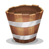 Cartoon Wood Bucket Royalty Free Stock Images