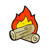 Cartoon wood fire Stock Photo