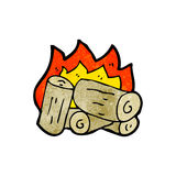 Cartoon wood fire Royalty Free Stock Photography