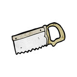 Cartoon wood saw Royalty Free Stock Images