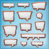 Cartoon Wood Speech Bubbles For Ui Game Royalty Free Stock Photos