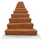 Cartoon Wood Stairs Royalty Free Stock Photos
