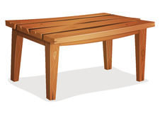 Cartoon Wood Table Royalty Free Stock Photography