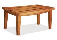 Cartoon Wood Table Royalty Free Stock Photography