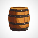 Cartoon wooden barrel Royalty Free Stock Photo