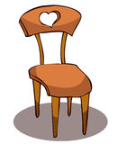 Cartoon Wooden Chair. Royalty Free Stock Photos