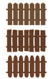 Cartoon wooden fence in plasticine or clay style. Stock Photography