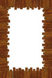 Cartoon wooden frame royalty free stock photography