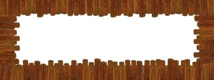 Cartoon wooden frame stock image