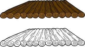 Cartoon Wooden Raft Stock Image