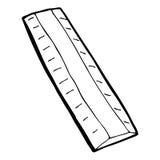cartoon wooden ruler stock illustration