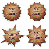 Cartoon Wooden Seal Of Quality Stock Photo