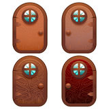 Cartoon Wooden And Stone Fairy Door For Ui Game Stock Image