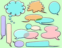 Cartoon Word Balloons Royalty Free Stock Images
