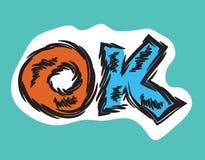 Cartoon word OK retro style Royalty Free Stock Photography