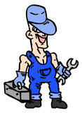 Cartoon worker Stock Images