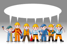 Cartoon worker card Royalty Free Stock Images