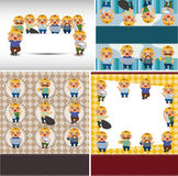 Cartoon worker card Royalty Free Stock Image
