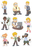 Cartoon worker  icon Stock Image