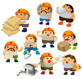 Cartoon worker icon. Drawing Royalty Free Stock Photos