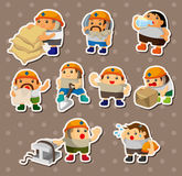 Cartoon worker stickers Royalty Free Stock Image