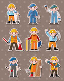Cartoon worker stickers Royalty Free Stock Photos
