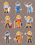 Cartoon worker stickers. Cartoon  illustration Royalty Free Stock Photos