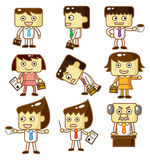Cartoon workers Royalty Free Stock Photo