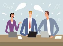 Free Cartoon Workers Talking And Laughing At Meeting Royalty Free Stock Image - 109427086