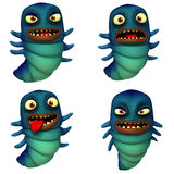 Cartoon worm Stock Photo