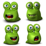 Cartoon worm Royalty Free Stock Photography
