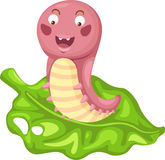 Cartoon worm Stock Photos