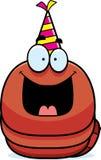 Cartoon Worm Birthday Party Royalty Free Stock Photography