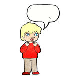 cartoon worried person with speech bubble Royalty Free Stock Photos