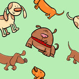 Cartoon wrapping paper with dogs. Cartoon Illustration of Dogs Animal Characters Wallpaper or Seamless Wrapping Paper Design Royalty Free Stock Photos